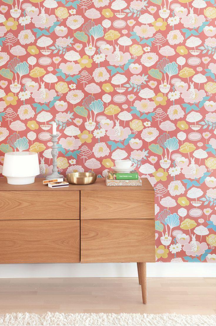 Cheer up a hallway with this beautiful Scandinavian wallpaper design.