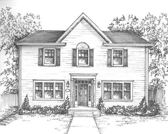 Architecture Houses Drawings 168 best line drawings of houses images on pinterest | drawings