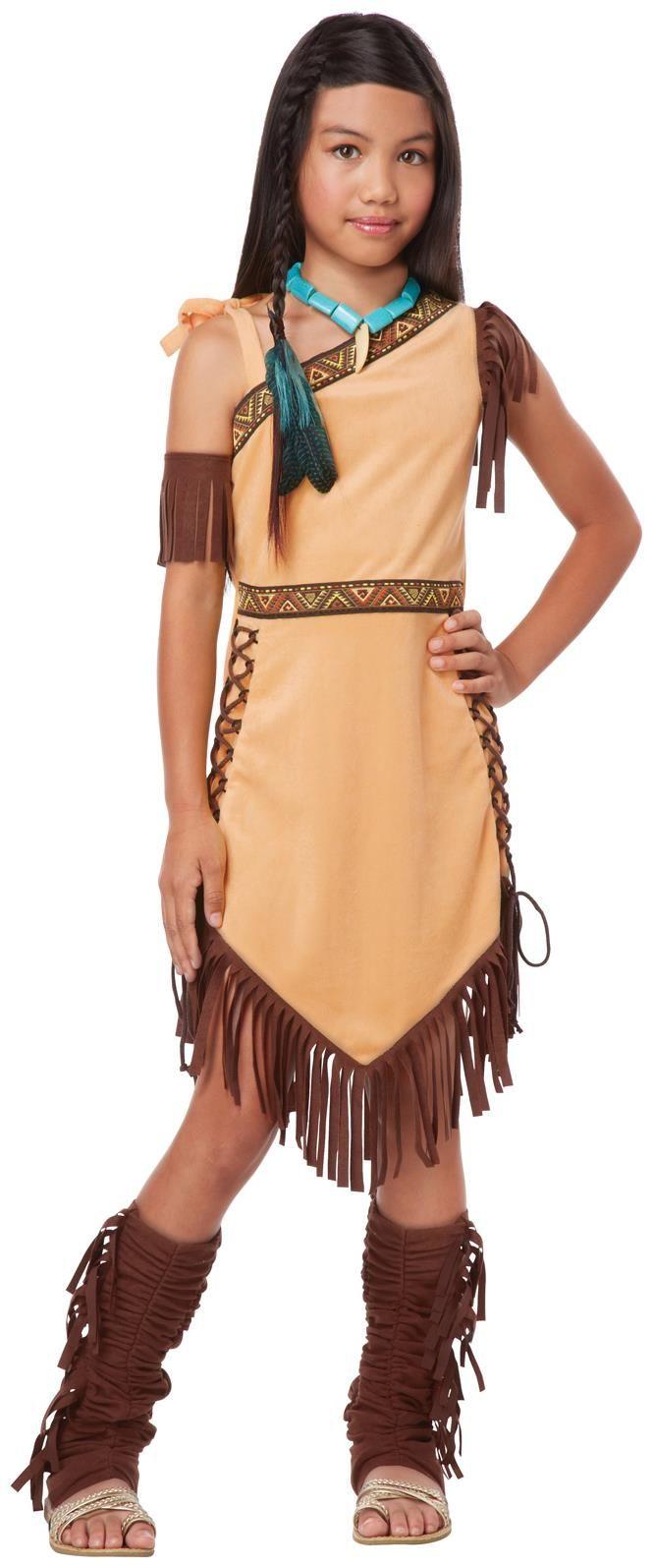 The dress halloween costume - Girls Native American Princess Child Costume For Halloween