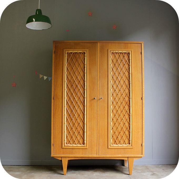17 meilleures images propos de armoire enfant sur pinterest style vintage - Meubles en rotin et osier ...