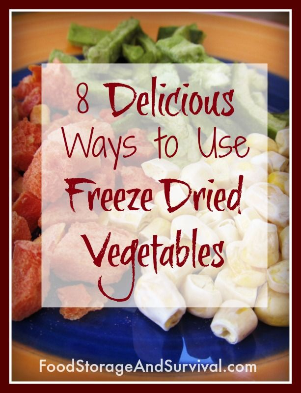 We LOVE freeze dried veggies around here!  Try these 8 delicious ways to use them and you'll be hooked, too!