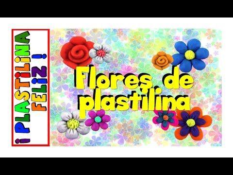 Cómo hacer flores de plastilina, tutorial, paso a paso.