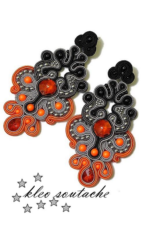 Sutasz Kleo /Soutache jewellery: Kolczyki sutasz ARSINOE