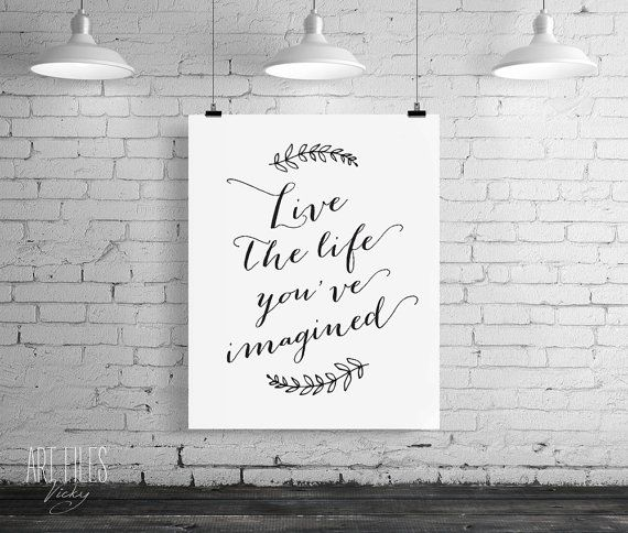 Inspirational art print Printable Wall Art Live by ArtFilesVicky