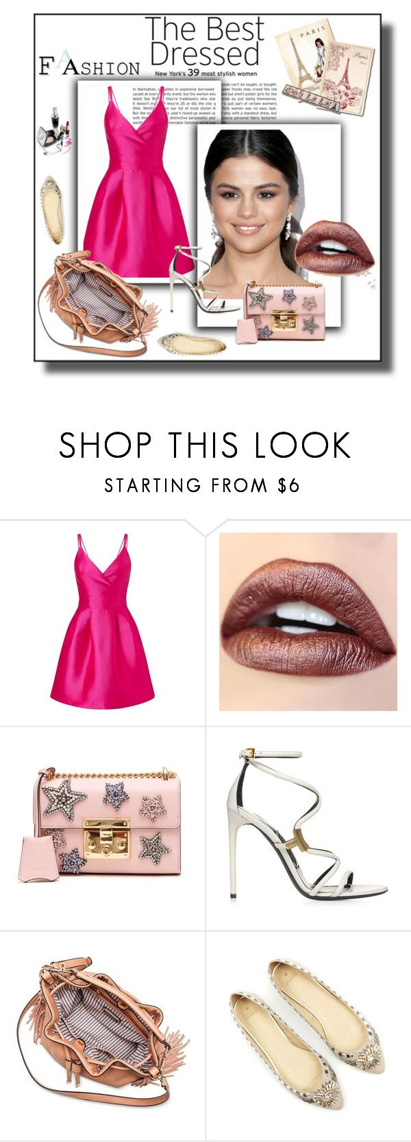 """""""Hollywood"""" by rebecioatto on Polyvore featuring moda, Miss Selfridge, Gucci e Moda Luxe"""