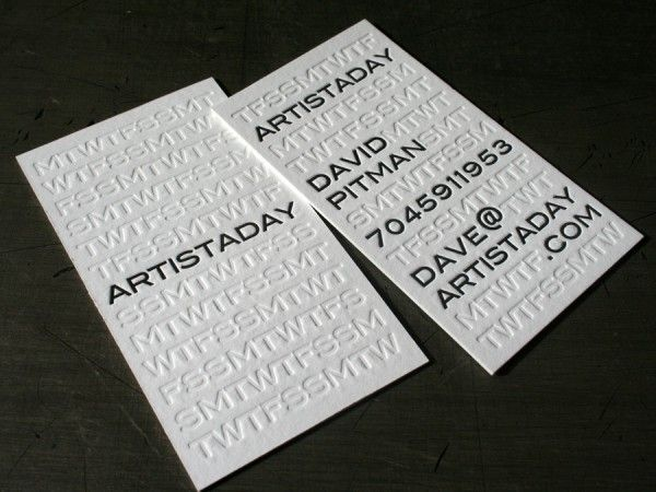 Best 49 letterpress ideas on pinterest embossed business cards letterpress blind impression business cards for the artistsday arts group by 485 inc reheart Gallery