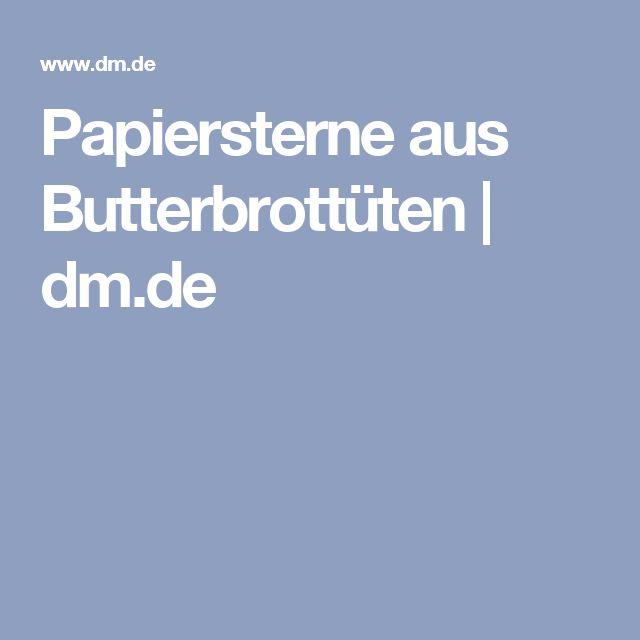 Papiersterne aus Butterbrottüten | dm.de