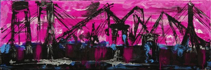 "Mina Papatheodorou Valyraki: ""Black cranes in magenta"", 2006"