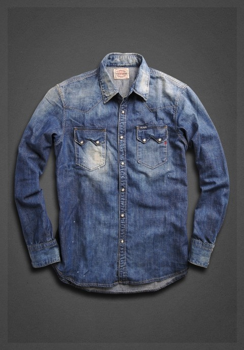 Denim shirt with work inspired double pockets | Shirt | Man | FW12 | Replay…