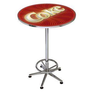 Charming Coca Cola Pub Table   Spiral