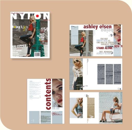 Nylon magazine spread
