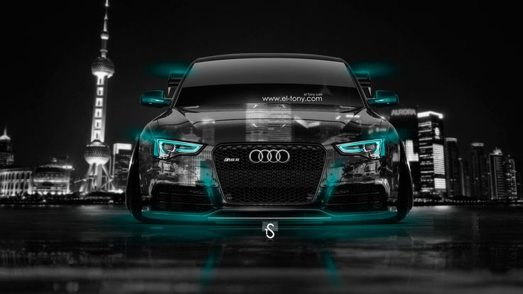 Audi Rs5 2014 | Audi RS5 Tuning Front Crystal City Car 2014 Azure Neon HD Wallpapers  ... | Cars | Pinterest | City Car, Audi Rs5 And Wallpaper