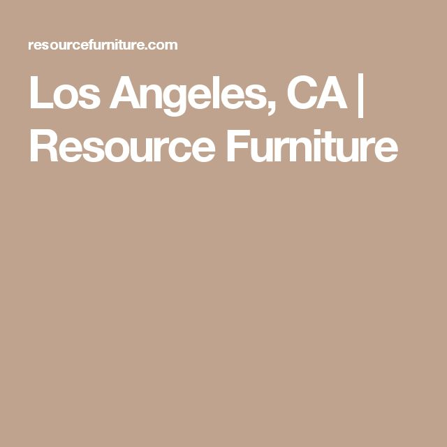 Los Angeles, CA | Resource Furniture