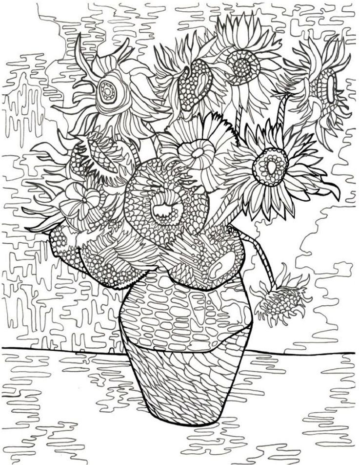 Colouring Pages Of Flowers In Vase : 764 best coloring pages and printables images on pinterest