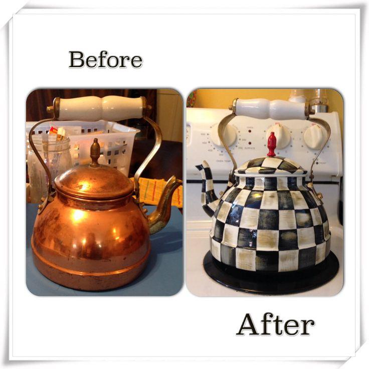 Mackenzie Childs inspired tea kettle!