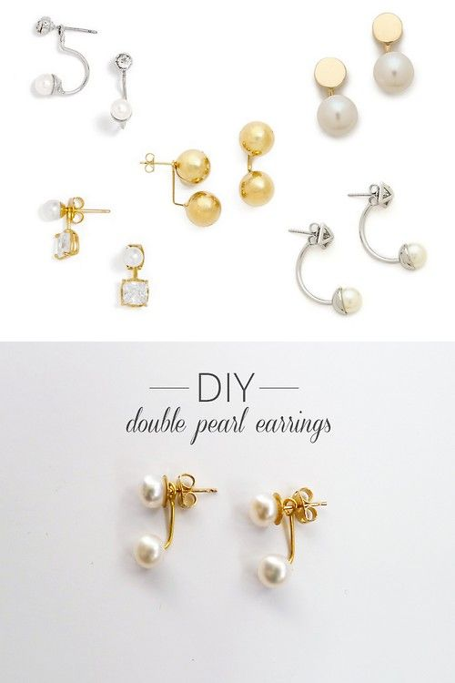 Totally elegant and modern spin on pearl earrings. I love these!!!
