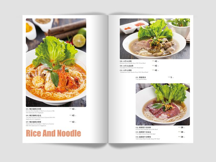 Menu Design for Mr. Thai Restaurant - 2015 on Behance