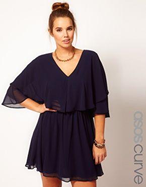 ASOS CURVE Dress with Cape