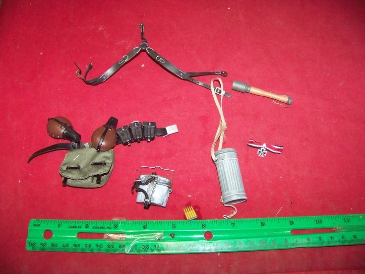 1/6th Scale German Army Belt, Suspenders, Pouch & More #24