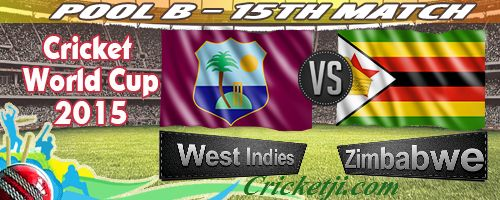 Zimbabwe vs West Indies Live Match Streamingof World Cup 15th Match: Zimbabwe vs West Indies Live Match Streamingis available in this site. This is 15th match of the World Cup 2015. This is 3rd Mat