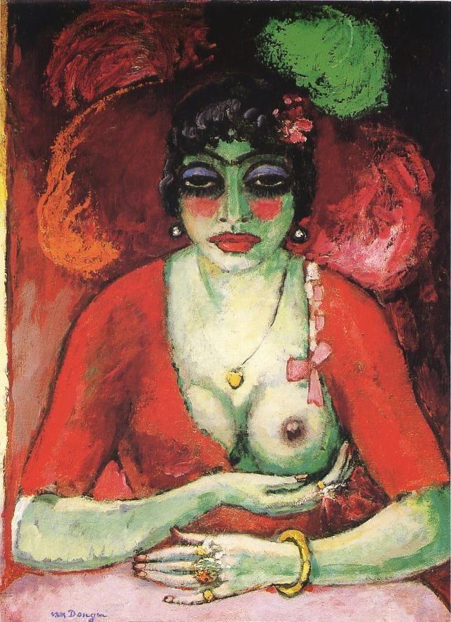 Kees van Dongen, La chemise noire (The Black Chemise), 1905-1906; painting;