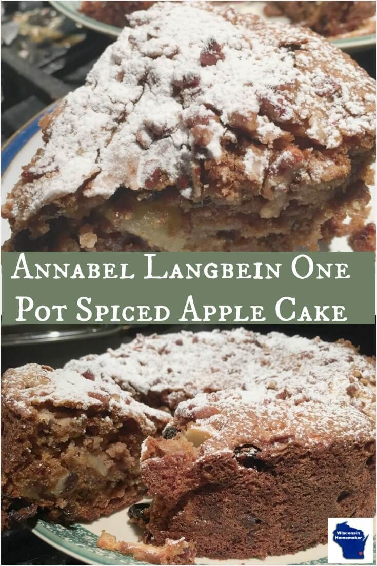Annabel Langbein One Pot Spiced Apple Cake uses only a pot and a cake form and is so rich and moist that it'll become a family favorite. via @wihomemaker