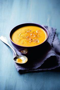 Potage de carottes et de potiron au cumin - Larousse Cuisine