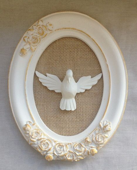 Quadro Oval Divino Espírito Santo G