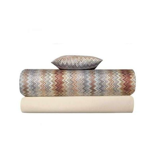 Missoni Home John Brown Pillow Case Set ($202) ❤ liked on Polyvore featuring home, bed & bath, bedding, bed sheets, multicolor, missoni home bedding, missoni home, brown bedding, multi colored bedding and chevron pillowcase