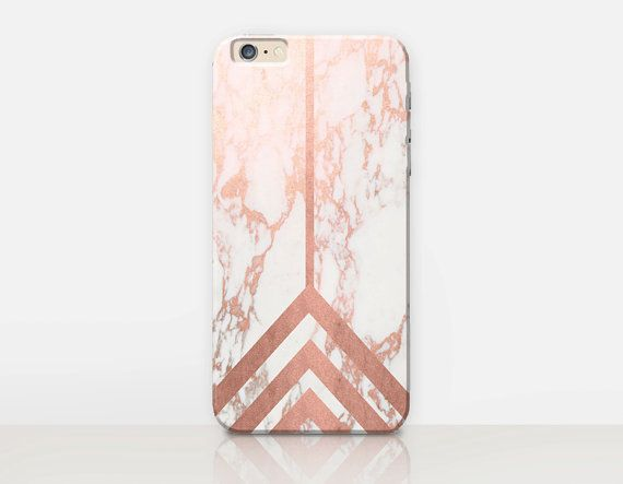 Rose Gold Marble Print Phone Case   iPhone 6 Case  by CRCases