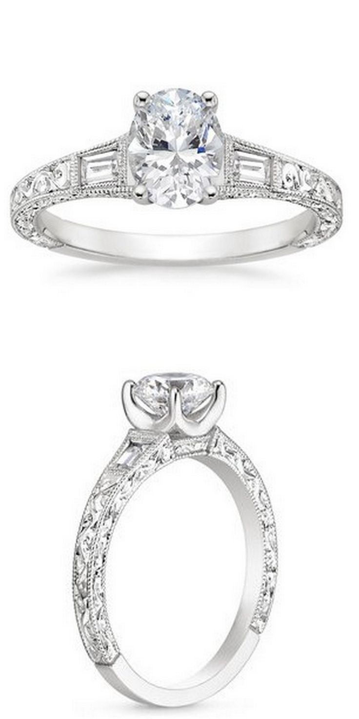 18K White Gold Regalia Diamond Ring