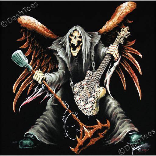 Skull Guitar Wallpaper Hd: Details About GRIM REAPER GUITAR MICROPHONE SKULL GOTHIC