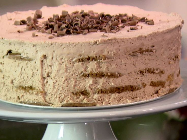 """Mocha Chocolate Icebox Cake recipe from Ina Garten. Mavis and I are going to make this for our next """"Sunday cake"""" :)"""