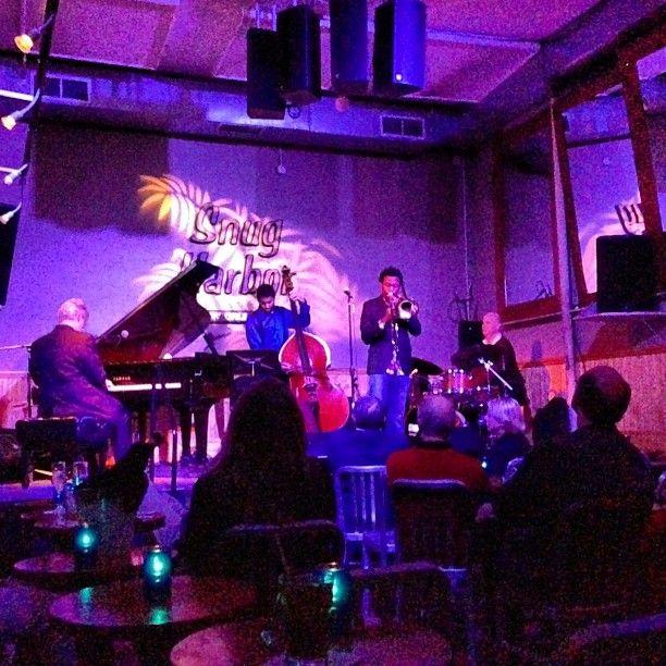 FOOD----Jazz Bistro. Website has a calendar. Yelp gives 4 stars.   http://www.snugjazz.com/site/  http://www.yelp.com/biz/snug-harbor-jazz-bistro-new-orleans