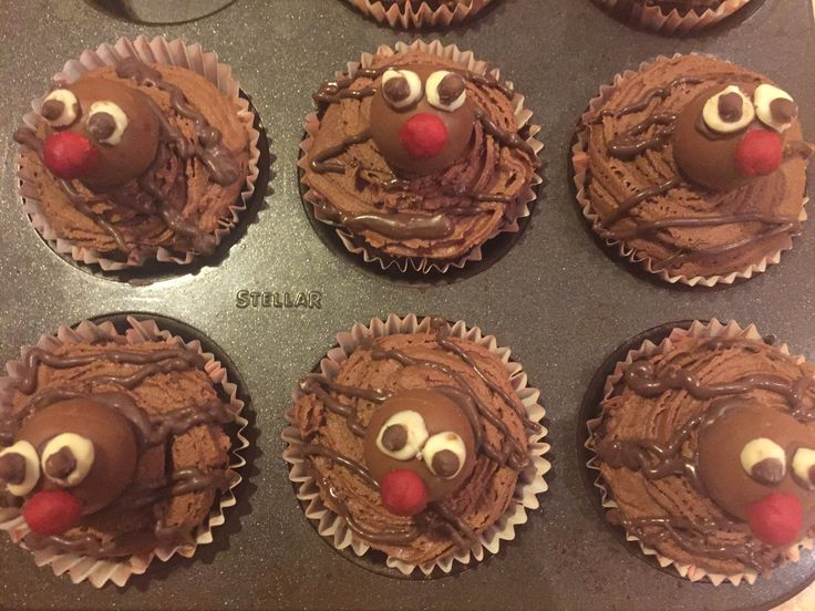 Red Nose Day! Lindor & chocolate cupcakes