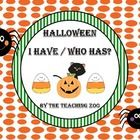 SALE!   Halloween I have Who has?  Game set of 4    set 1- uppercase alphabet letters    set 2- lowercase alphabet letters    set 3- numbers 1-21    set 4- 18 pre-...