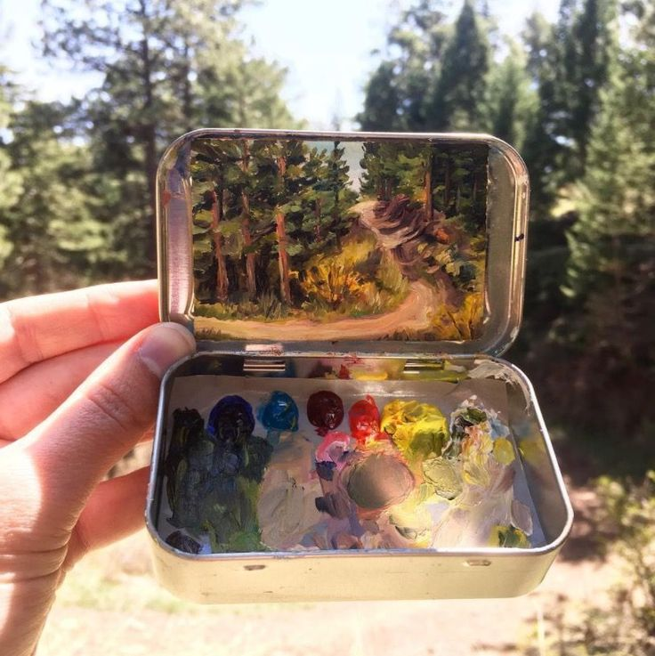 """Two years ago, Heidi Annalise quit her government job in Washington DC and returnedto her home state of Colorado to paint– out of handheldmint cans. She spends most of her days """"frolicking in meadows"""" and painting the wilderness and has since managed to rack up an Instagram following of more than"""