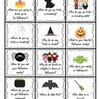 This FREEBIE contains 24 wh-questions cards (who, what, where, when, & why) relating to Halloween.  Use these cards for drill practice,  before...