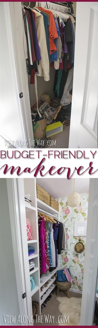Loving this closet -- totally done on a budget! Check it out for TONS of ideas to make over your own house!