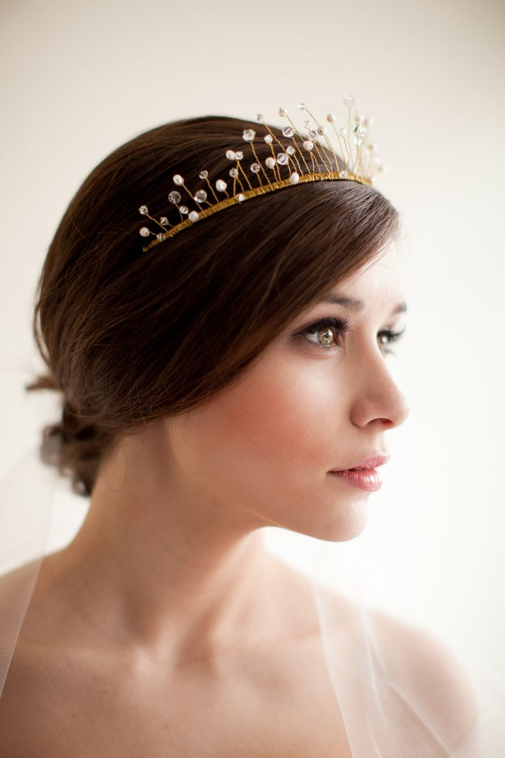 Wired Crystal and Pearl Crown