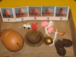 Practice sequencing with this Mr. Potato Head activity - Re-pinned by #PediaStaff.  Visit http://ht.ly/63sNt for all our pediatric therapy pins