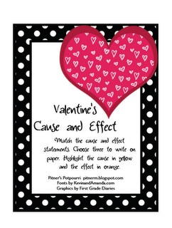 Free!! Valentine theme cause/effect!!! 8 pages!!!
