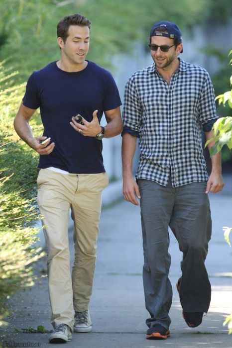 Ryan Reynolds & Bradley Cooper. Should be illegal to have this much hotness is such close proximity.