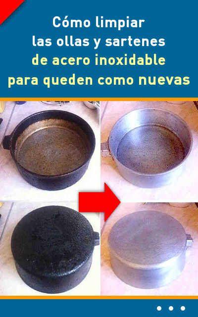 C mo limpiar las ollas y sartenes de acero inoxidable - Como limpiar campana acero inoxidable ...