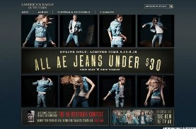 """American Eagle Outfitters:   The teen retailer kicked off the back-to-school season with a 40% clearance, deeper than last year's 30% discount.    But for the most part, American Eagle's denim price points are consistent with last year, with Beder finding the average price at about $37.47 (before this week's discount).    """"While the denim assortment is once again the most comprehensive and compelling in the teen space, it does not seem to be generating as much interest as Abercrombie…"""