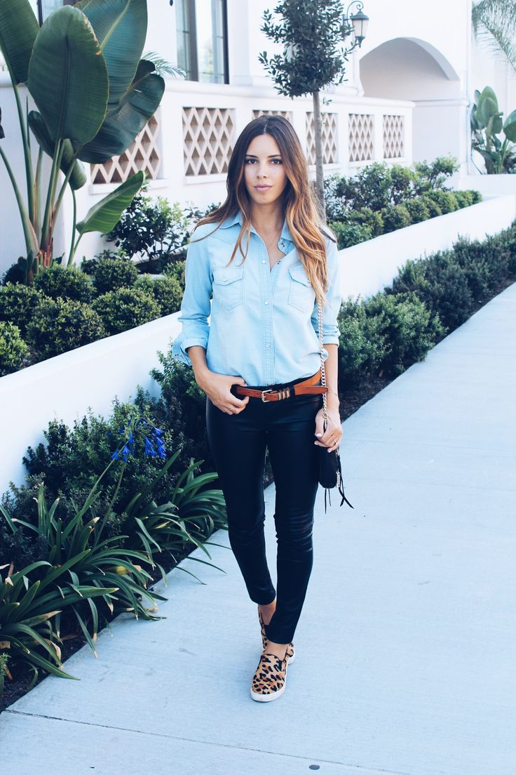 Chambray + Leather + Leopard \\\ 25% off on Shopbop today!