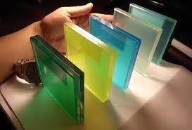 Vidrio laminado de color, fabricamos vidrios