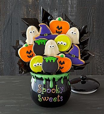 Wow, gorgeous Halloween centerpiece. Unfortunately, no longer available on the website. Great inspiration though if you are a talented cookie baker and decorator!