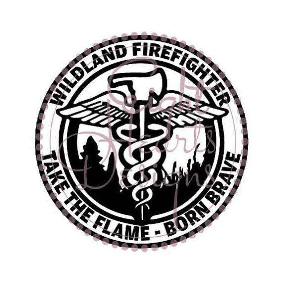 Wildland Firefighter Emblem Svg Studio By