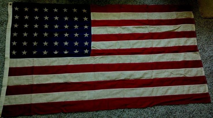Very Early Cotton 48 star flag  for sale on Ebay  1912-1959